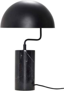 HÜBSCH bordlampe - sort metal/marmor