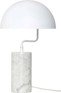 HÜBSCH bordlampe - hvid metal/marmor