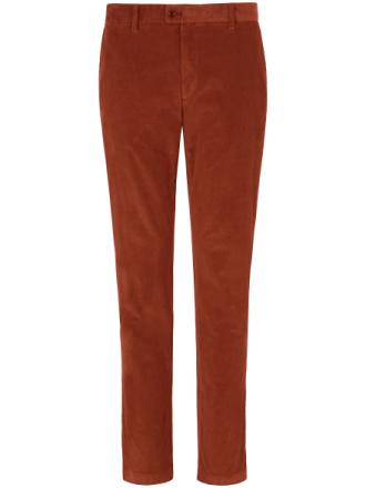Bukser i smalriflet fløjl model Evans Fra Brax Feel Good orange - Peter Hahn