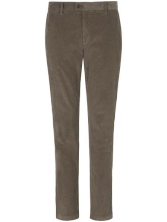 Bukser i smalriflet fløjl model Evans Fra Brax Feel Good grøn - Peter Hahn