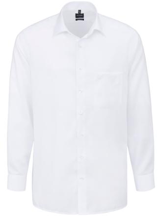 Strygelet skjorte kent-flip Fra Olymp Luxor hvid - Peter Hahn