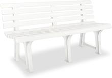 vidaXL havebænk 145,5 cm plastik hvid