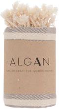 ALGAN Kavun hamamhåndklæde grå striber - 95x180 cm
