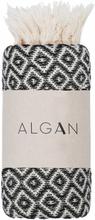 ALGAN Sumak gæstehåndklæde - sort diamant mønster