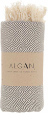ALGAN Elmas hamamhåndklæde grå - 100x180 cm