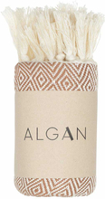 ALGAN Elmas gæstehåndklæde - brun
