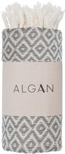 ALGAN Sumak gæstehåndklæde - grå diamant mønster