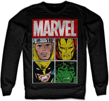 Marvel Distressed Characters Sweatshirt, Sweatshirt