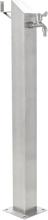 vidaXL Vattenpost för trädgården 95 cm rostfritt stål fyrkantig