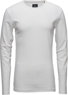 Basic Tee O-Neck L/S T-shirts Long-sleeved Hvit LINDBERGH
