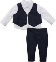 Gilet, overhemd en broek (3-dlg. set)