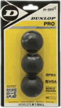 Dunlop Pro 3-ball Blister Squash BLACK