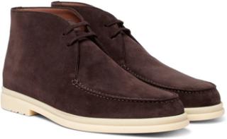 Walk And Walk Suede Chukka Boots - Brown