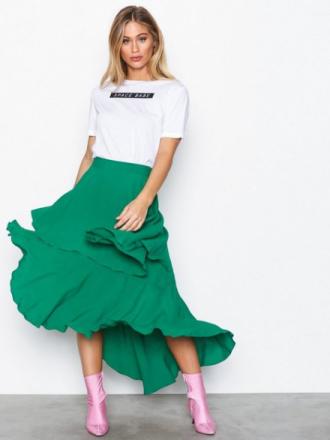 Midiskjørt - Grønn NLY Trend Summer Frill Skirt