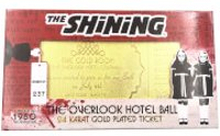 The Shining 24k Gold Plated Gold Room Ball Limited Edition Replica Ticket - Zavvi Exclusive