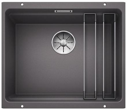 Blanco Etagon 500-U UXI Køkkenvask 53x46 cm m/InFino kurveventil, Silgranit, Klippegrå