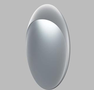 Louis Poulsen Flindt væglampe Ø 30 cm alu, 2.700 K
