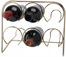 Vinställ för 6 vinflaskor i mässing