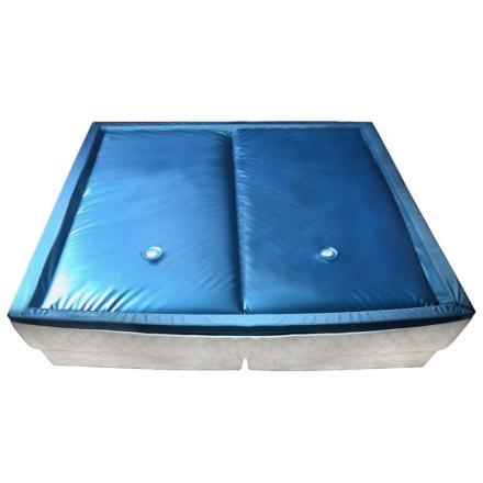 vidaXL Dobbel vannmadrass med innerlag og avdeler 200x200 cm F3