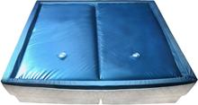 vidaXL Vesisängyn patjasetti suojuksella ja jakajalla 200x200 cm F3