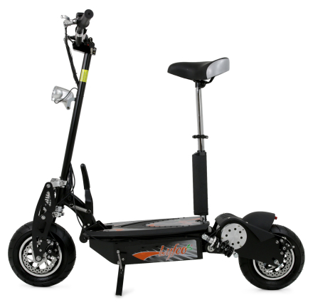 Elscooter 1600W 12tums hjul - Svart