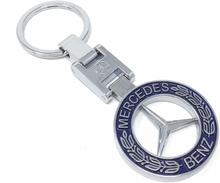Äkta Läder Mercedes Benz nyckelring