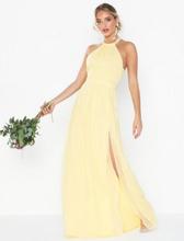 NLY Eve Halterneck Beaded Gown Maxiklänningar Ljus Gul