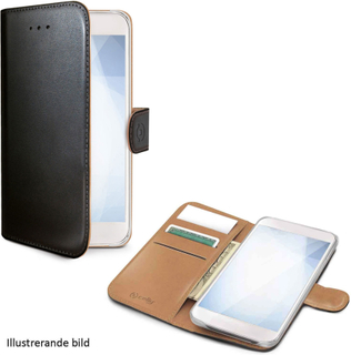 Celly Wallet Case Sony Xperia XZ3, svart/brunt