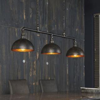 FURBO loftslampe - sort metal, m. 3 lampeskærme (108x26)