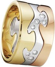 Fusion 3-delad Ring RG//VG/RG/Diamanter