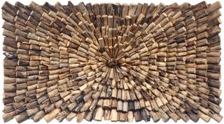 HOUSE NORDIC Wall vægdekoration - genbrugs teaktræ (120x70)