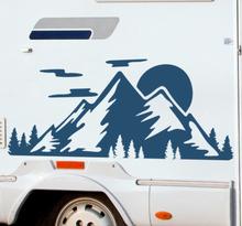 Stickers caravan natuur bergen