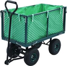 vidaXL Trädgårdsvagn grön 350 kg