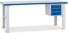 Verkstadsbänk med hurts 3 lådor 1200x800 mm