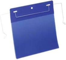Drahtbügeltasche A5 quer 50er Pck blau
