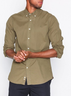 Morris Keene Button Down Shirt Skjorter Olive