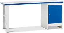 Verkstadsbänk med hurts, dörr 1200x800 mm