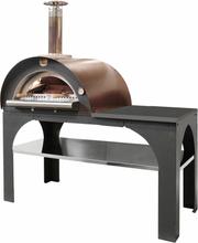 Pizza Party Vedeldad Ugn/Pizzaugn (Lucka: Rostfritt stål (ingår), Takfärg: Svart)