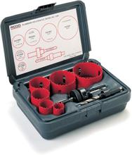 Ridgid hålsågssats vvs-set bimetall, Ø22-64 mm - 8 delar