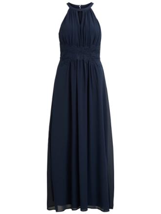 VILA Halterneck Maxi Dress Women Blue