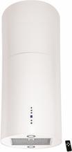Design frihängande cylinderformad köksfläkt Explorer vit/eller valfri RAL färg