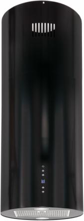 Design frihängande cylinderformad köksfläkt Explorer svart/eller valfri RAL färg