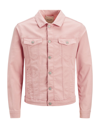 JACK & JONES Alvin Akm 528 Sts Denim Jacket Men Pink