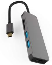 USB-C dockningsstation med 4K HDMI, 2 USB och Micro SD/TF kortläsare