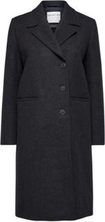 SELECTED Selected People Wool Coat Kvinna Grå