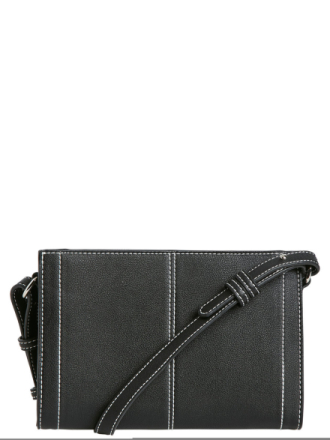 PIECES Small Boxy Crossbody Bag Women Black
