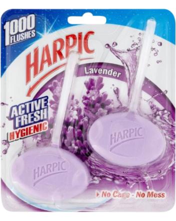 Harpic Toiletblok Hygienic Lavendel 2 pak 80 g