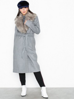 River Island Grey Robe Coat Kappor