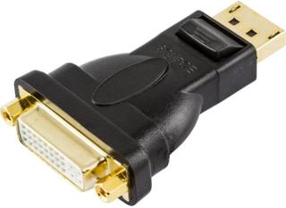 Deltaco Displayport Till Dvi-i Dual Link Adapter, Ha - Ho, Svart Svart
