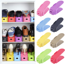 HOT Fashion Shoe Racks Double Cleaning Storage Shoes Rack Shoes Organizer Stand Shelf box holders shoemaker cabinet clothes